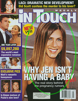 Jennifer Aniston Cover Photo by Lee Roth