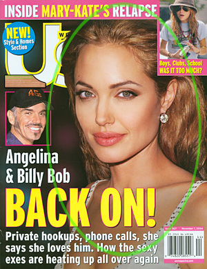 Cover Photo of Angelina Jolie by Lee Roth