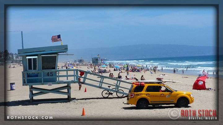 El Porto Beach in Manhattan Beach, California