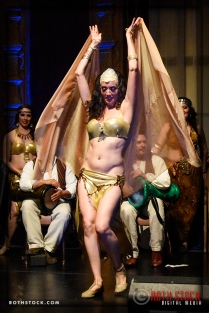Bellydancer Aubre Hill of the Lumina Bellydance Company performs at the 18th Annual Labyrinth of Jareth Masquerade Ball