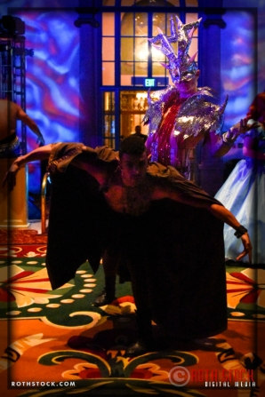 Dancer Clinton Kyles and Yevgen Ivanov attend the 18th Annual Labyrinth of Jareth Masquerade Ball