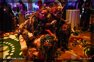 The Zundri make mischief and kidnap guests throughout the event
