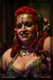A belly dancer performs at the 18th Annual Labyrinth Of Jareth Masquerade Ball