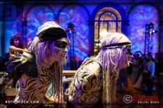 """Talisks G. Allen Smith and Kevin Kelley perform in the """"Mermaid Room"""" at the 18th Annual Labyrinth of Jareth Masquerade Ball"""