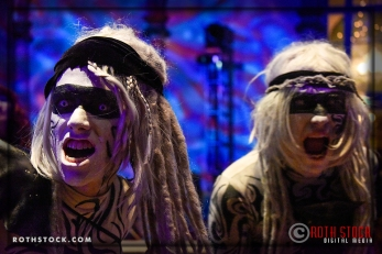 "Talisks G. Allen Smith and Kevin Kelley perform in the ""Mermaid Room"" at the 18th Annual Labyrinth of Jareth Masquerade Ball"