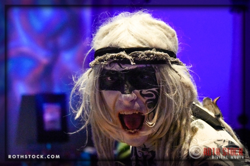 """Talisk Kevin Kelley performs in the """"Mermaid Room"""" at the 18th Annual Labyrinth of Jareth Masquerade Ball"""