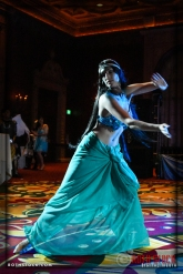 Dancer Courtney Lucas performs at the18th Annual Labyrinth Of Jareth Masquerade Ball
