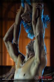 Acrobats Morgan Gerhard and Leah Russell of EMCirque