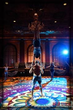 Acrobats Alan Ascencio and Jenay Espinosa of EMCirque