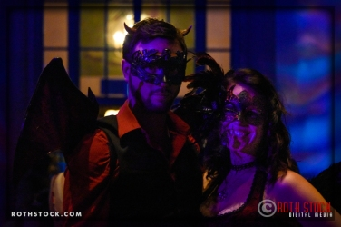 Shaunessy Quinn and Stephanie Pate attend the 18th Annual Labyrinth Of Jareth Masquerade Ball