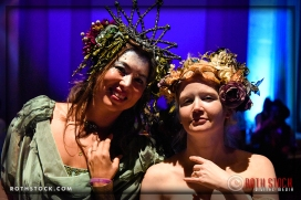 (l-r) Elizabeth Price and Elizabeth Fairburn Johnson attend the 18th Annual Labyrinth of Jareth Masquerade Ball