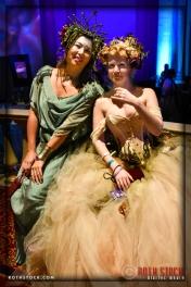 (l-r) Elizabeth Price and Elizabeth Fairburn Johnson attend the 18th Annual Labyrinth of Jareth Masquerade Ball