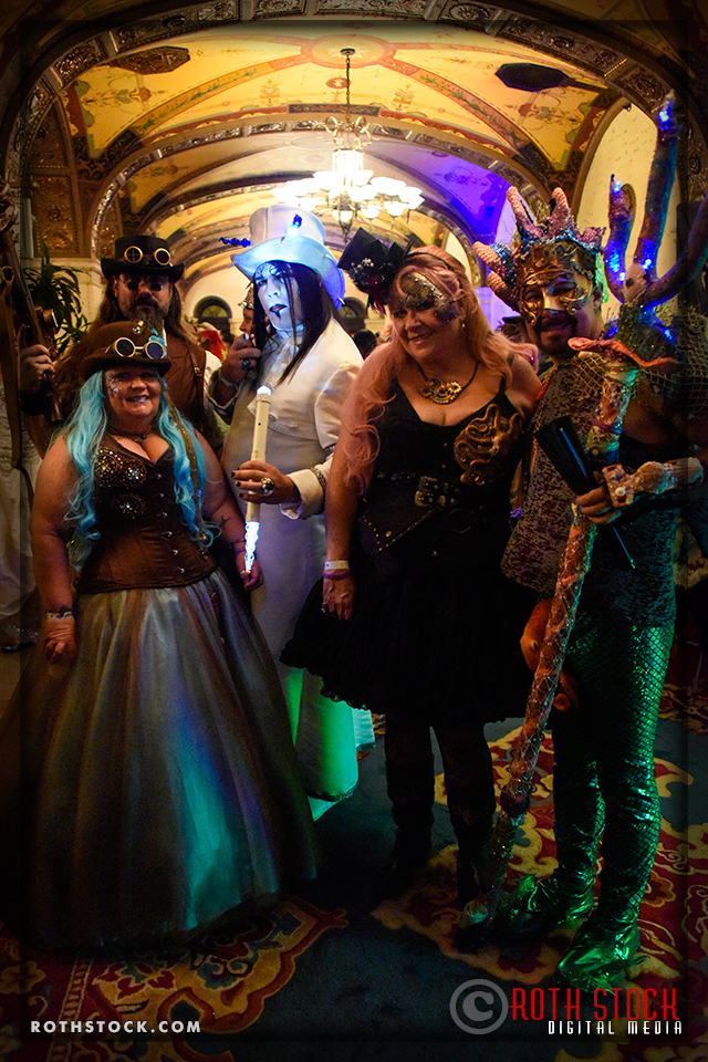 (L-R) Robert Modica, Hellena Denice, Markuss Hill, Jacqueline Turney and Steven Wingert attend the 18th Annual Labyrinth Of Jareth Masquerade Ball
