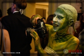 Photographer Violet Schrage working the 18th Annual Labyrinth Of Jareth Masquerade Ball