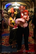 Calliope Blossumwalker, Thomas Ladensack and niece at the 18th Annual Labyrinth Of Jareth Masquerade Ball
