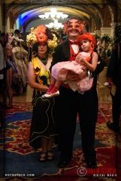 Calliope Blossumwalker, Thomas Ladensack and niece at the 18th Annual Labyrinth Of Jareth Masquerade Ball