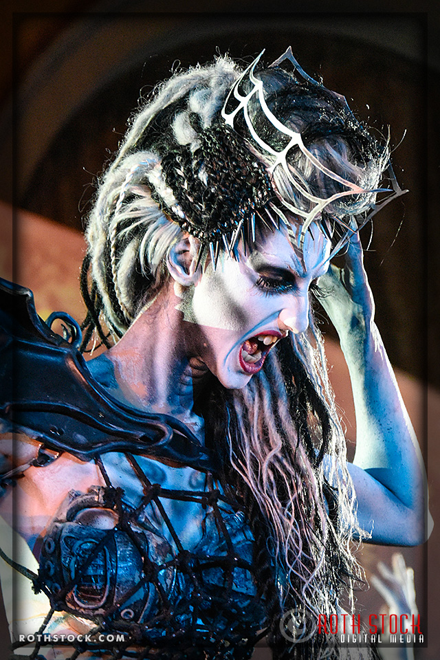 "Actress Jen Giragos portrays the ""Spider Queen"" at the 18th Annual Labyrinth of Jareth Masquerade Ball"