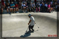 "Conner Millan performs at Life Rolls On ""They Will SKATE Again"""