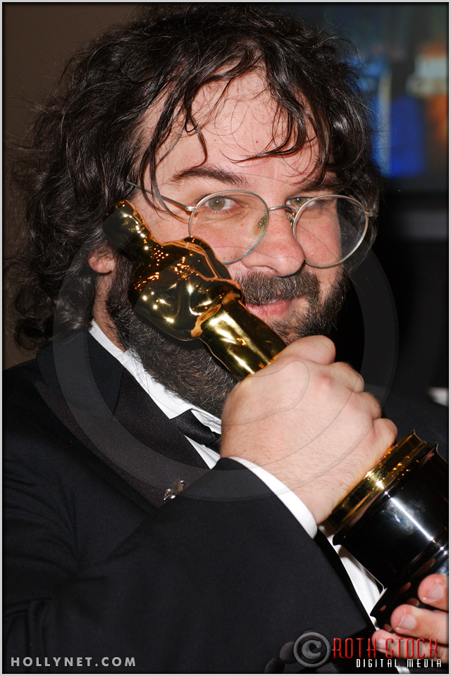 Peter Jackson with his Oscar® at the 76th Annual Academy Awards® Press Room