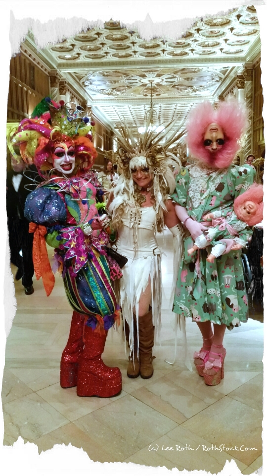 So many people with such fantastic costumes like Wendy Waagenaar (center) and her friends at The Labyrinth of Jareth Masquerade Ball, it seems every makeup artist in Hollywood was represented!