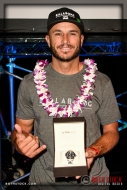Shane Dorian wins the TAG Heuer Biggest Wave Award and a Sports Watch