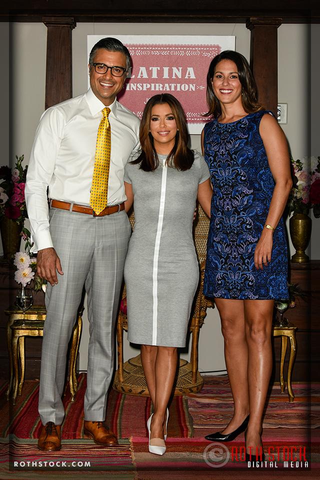 Jaime Camil, Eva Longoria and Monica Gonzalez