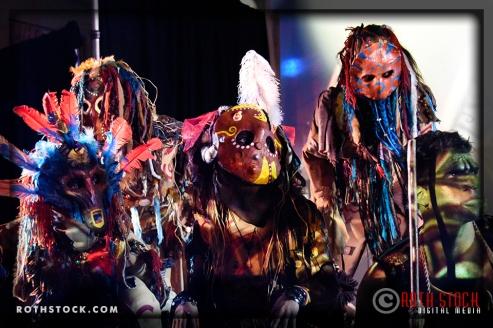 The Zundri: (L-R) Zundri Shaman Palmer Williams, Lauren Ashley Serendipity, Courtney King (center), Unknown Zundri, and Goblin Justen Asher