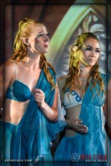 Temple Elves (L-R) Menel (Desiree Gibson) and Elenathnen (Linnea Snyderman)