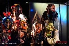 The Zundri: (L-R) Zundri Shaman Palmer Williams, Lauren Ashley Serendipity, Courtney King (center), Rachel Noel, Mystery Zundri, and Goblin Justen Asher