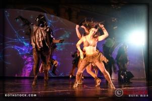 Dancer Samantha Ketcherside performs at the 18th Annual Labyrinth Of Jareth Masquerade Ball