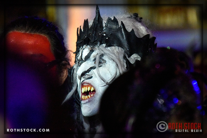 Actor David Ewing portrays the Talisk Beast Master at the 18th Annual Labyrinth of Jareth Masquerade Ball