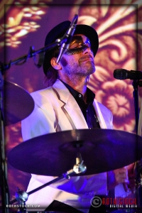Drummer Charlie Niczenski with The Band That Fell To Earth: A David Bowie Odyssey