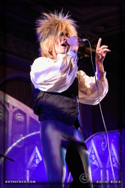 Musician/singer Julian Shah-Tayler portrays Jareth the Goblin King with his band The Band That Fell To Earth: A David Bowie Odyssey