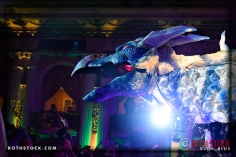 Sparkles the Dragon appears at the 18th Annual Labyrinth Of Jareth Masquerade Ball