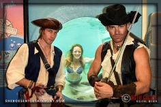 Pirate Johnny Stix, Mermaid Melody, and Pirate Matt Marsh