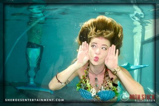 Mermaid Rachel Blows a Kiss!