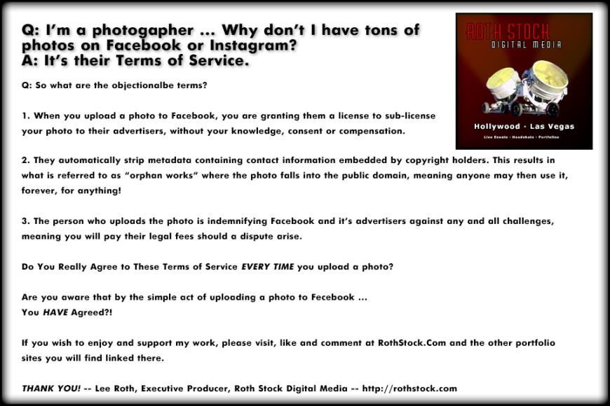 Why So Few Photos on Social Media - Please visit us at RothStock.Com