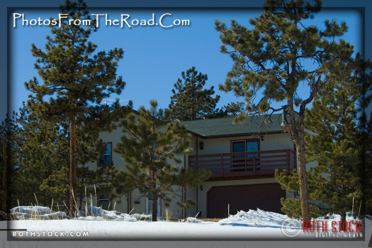 A mountain home in the Colorado Rockies.