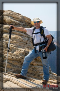 Photojournalist Lee Roth at the Summit of Angel's Landing