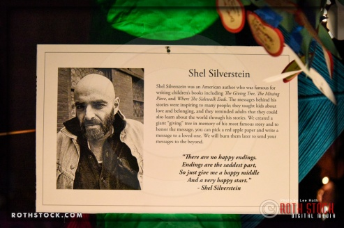 """A """"Giving Tree"""" in memory of author Shel Silverstein at Shamanic Visions of the Huichol at Hollywood Forever"""