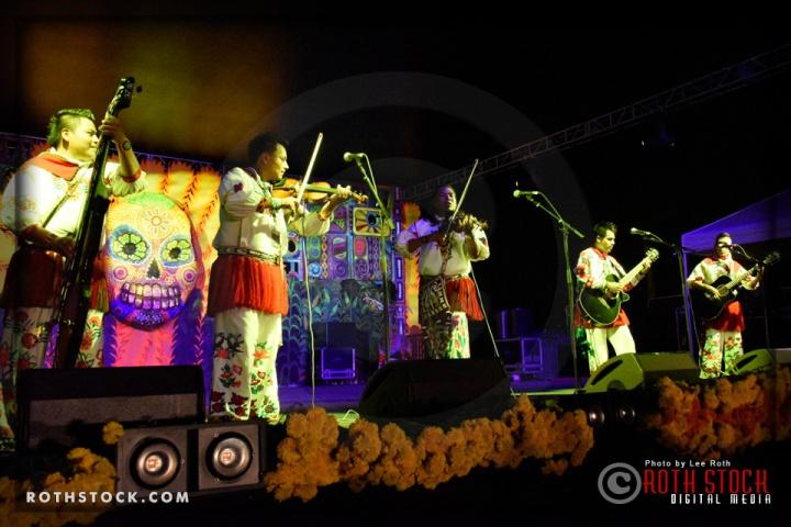 Huichol Musical perform at Dia De Los Muertos LA