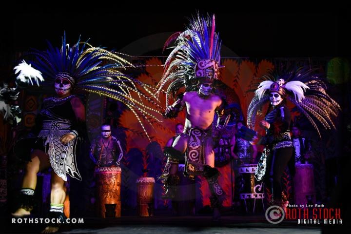 "Xavier Quijas Yxayotl ""Splendorous Mictlan"" and Dancers"