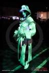 Costumed character Markuss Hill attends Dia De Los Muertos