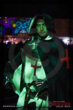 Costumed character Jack Yang attends Dia De Los Muertos