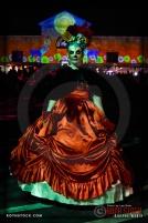 Costumed character Ami Blachowiak attends Dia De Los Muertos - Shamanic Visions of the Huichol