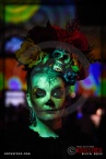 Costumed character Ami Blachowiak attends Dia De Los Muertos - Shamanic Visions of the Huichol