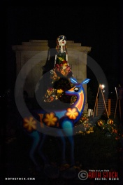 Atmosphere at Dia De Los Muertos - Shamanic Visions of the Huichol at Hollywood Forever