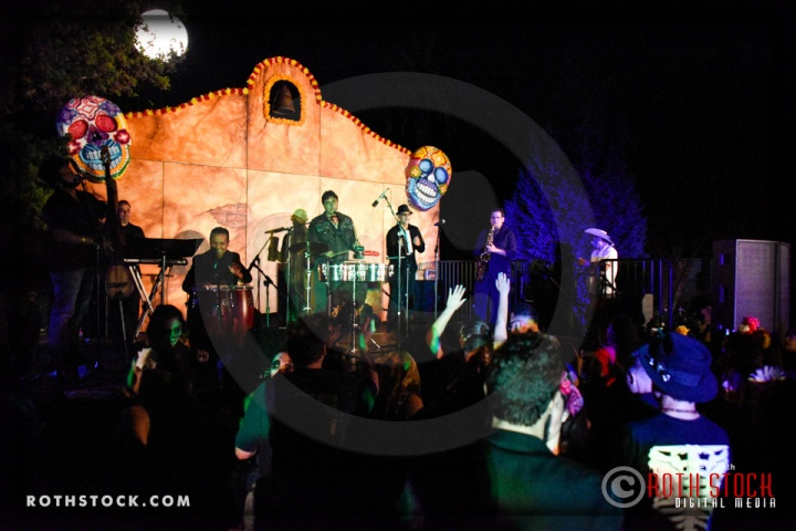 Musical group Son Cache performs at Dia De Los Muertos - Shamanic Visions of the Huichol