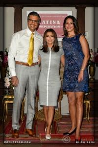 (L-R) Jaime Camil, Eva Longoria and Monica Gonzalez