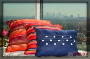 Blue Pillow designed by Eva Longoria